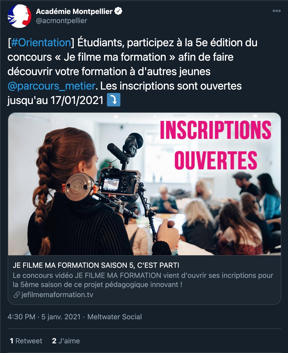Académie de Montpellier - 05/01/2021