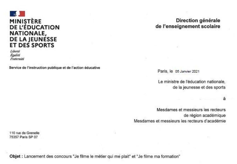 Direction Générale de l'Enseignement Scolaire - 05/01/2021
