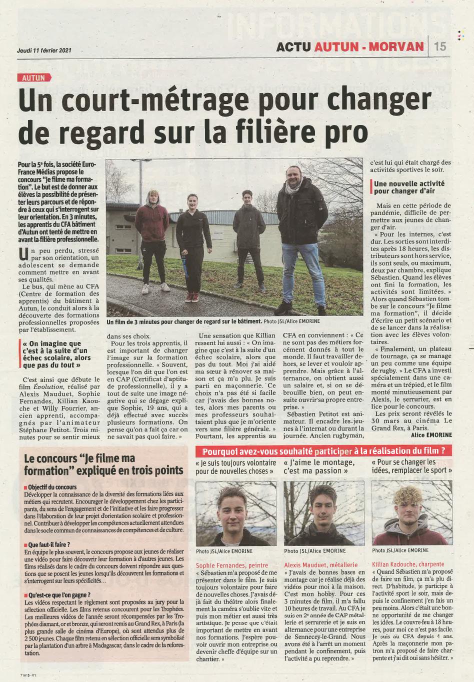Le Journal de Saône-et-Loire - 01/02/2021