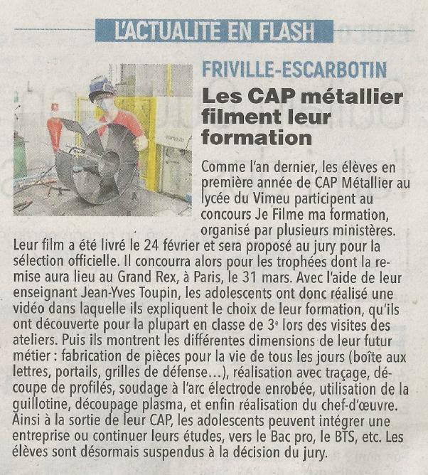 Le Courrier Picard - 03/03/2021