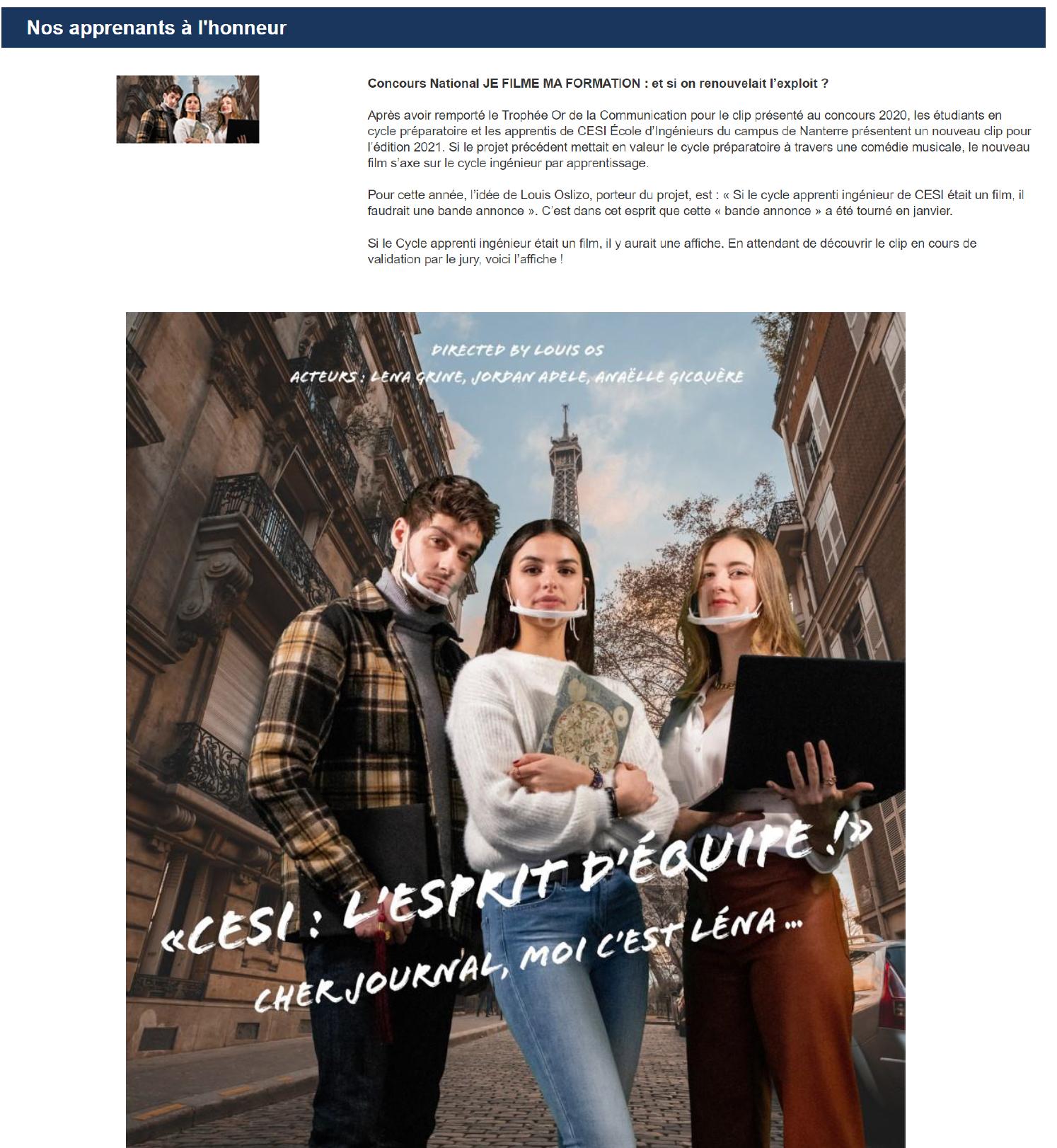 CESI Newsletter - 08/03/2021