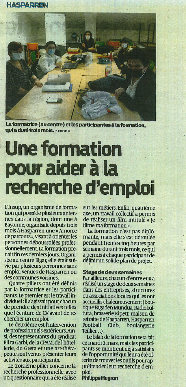 Sud Ouest - 01/03/2021