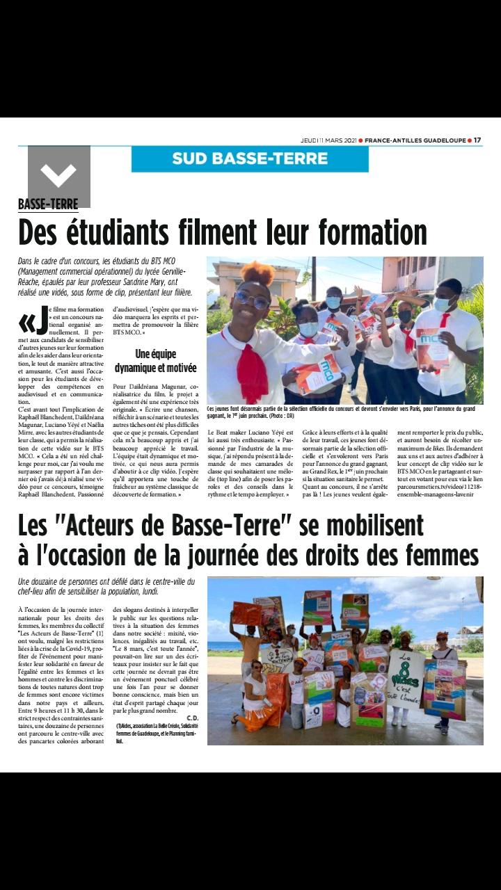 France-Antilles Guadeloupe - 11/03/2021