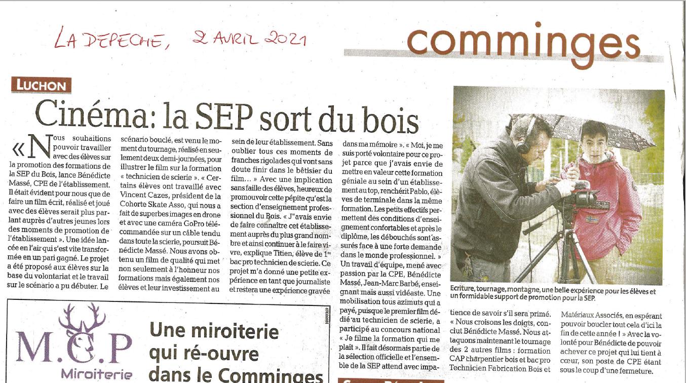 La Dépêche - 02/04/2021