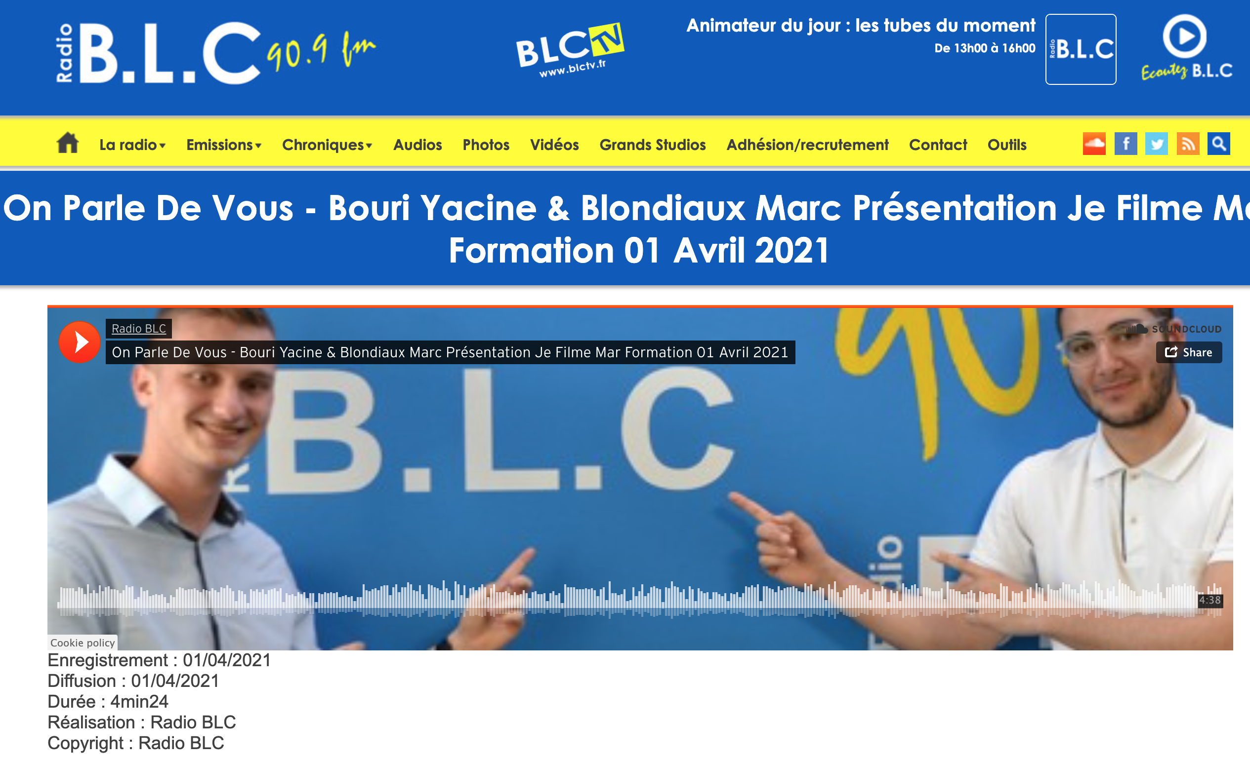 Radio BLC - 01/04/2021