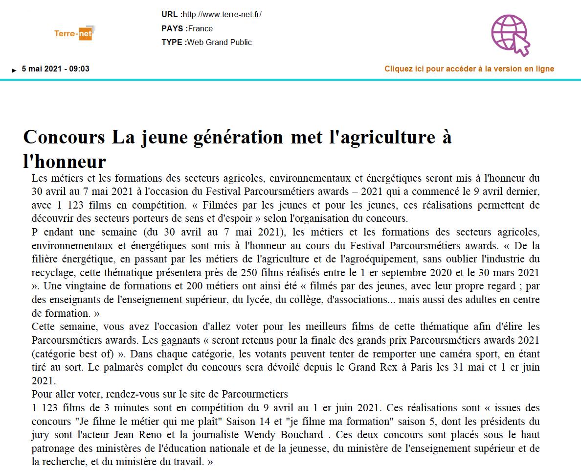 Terre-net.fr - 05/05/2021