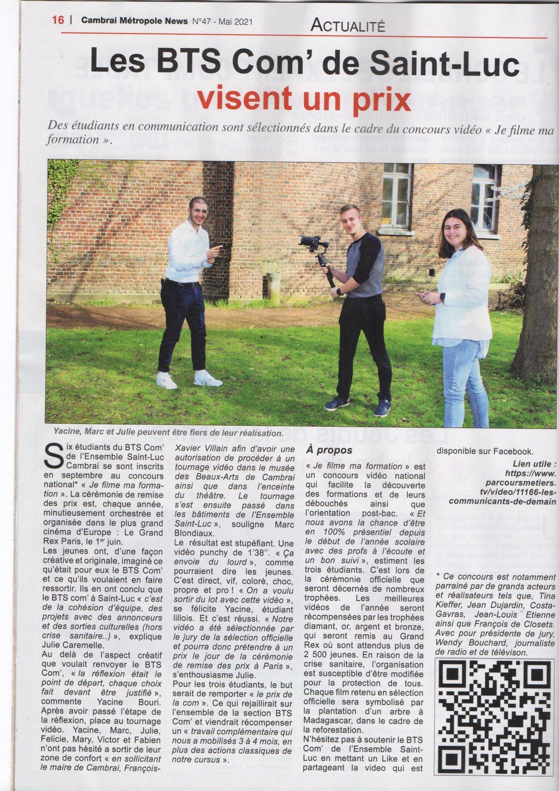 Cambrai Métropole News - 01/05/2021