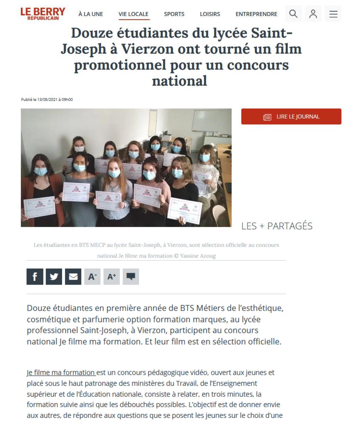 Le Berry Républicain - 13/05/2021